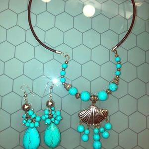 1 HrSale 🚨Turquoise jewelry set